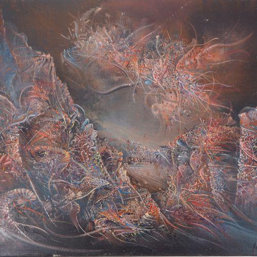 Marc JANSON 马克 詹森(1930 )  超现实主义景观  布面油画  右下方有签名  背面副署  画布上46×55厘米  状况极佳    出售后,由…