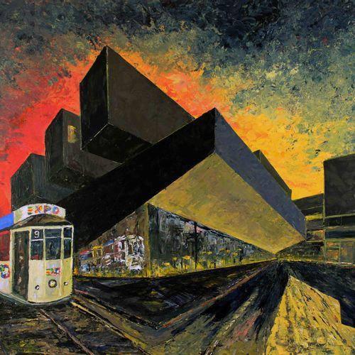 Pier Luca Bencini 皮埃尔 卢卡 本奇尼 旧电车道 板上丙烯 70x90cm 旧电车道:当代大师皮埃尔 卢卡 本奇尼的作品,代表了对米兰博科尼大…