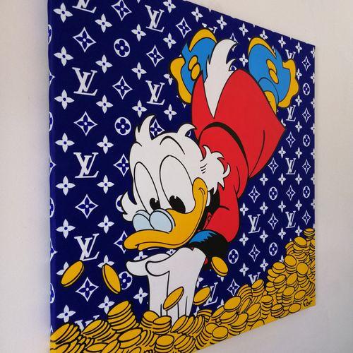 FOV 福夫   Lv Scrooge, 2021年     丙烯酸在画布上(在担架上)。   右下方有签名   尺寸:80×80厘米    出售后,由于健康危…