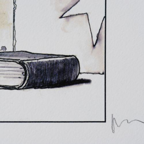 Milo Manara 米洛 马纳拉(1945 )  泡沫  数字印刷  艺术家的铅笔签名  牛皮纸上  限量发行620份(编号28  总尺寸:40 x 30 …