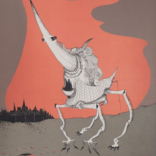 Felix Labisse Félix LABISSE  珀斯 奥罗尔号,1974年  原始石版画(Jobin工作室)。  用铅笔签名  日本纸上 55.5 x…