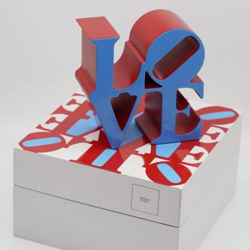 Robert Indiana Robert Indiana (d'après)  Love Blue, 2018  Sculpture alliage  Num…