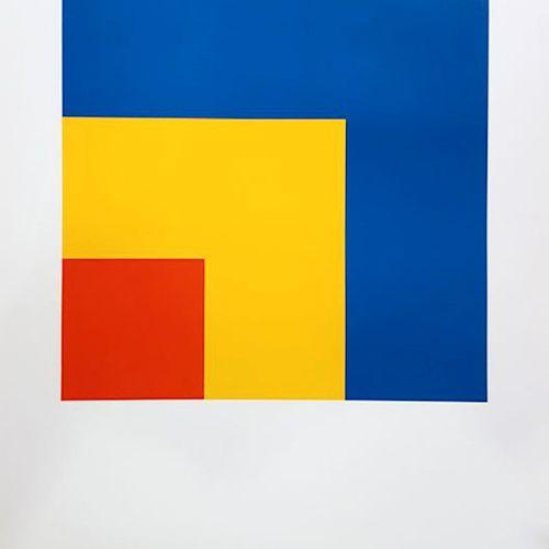 """Ellsworth KELLY 埃尔斯沃思 凯利(后  红色、黄色、蓝色  在埃尔斯沃思 凯利之后,在他的监督下,为法国巴黎的梅格特基金会的 """"现代工作室 """"进…"""
