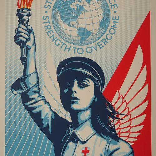 Shepard FAIREY Shepard Fairey dit Obey Giant (USA, 1970)  Angel of Hope and Stre…