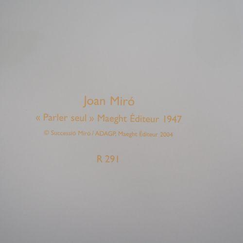 Joan Miro 琼 米罗(1893 1983)(后)  超现实主义的家庭  石版画(在Arte(巴黎)/Maeght工作室印制  板块中的签名  牛皮纸上 …
