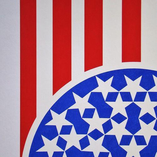 Robert Indiana 罗伯特 因迪亚纳(1928 2018)  新光荣旗帜, 1997  重磅羊皮纸上的原始3色丝网印刷,无签名和编号。  来自作品集:…