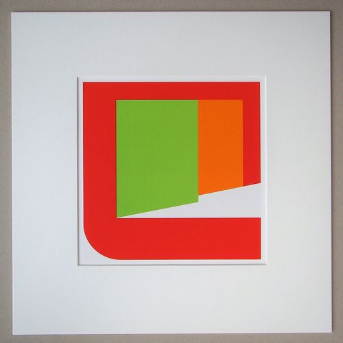 Georg Karl Pfahler Georg Karl PFAHLER (1926 2002 )  混凝土构成,1975年  四色艺术印刷纸上的原版绢画,无…