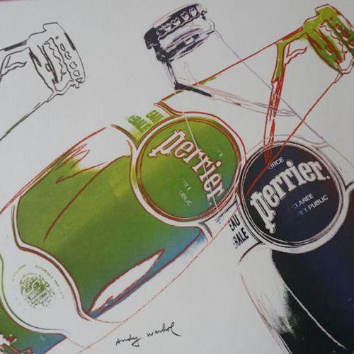 ANDY WARHOL Andy Warhol  Perrier, 1983  Impression Offset  Signée dans la planch…