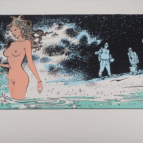 Milo Manara Milo MANARA (1945 )  Sirène dans les flots  Sérigraphie originale en…