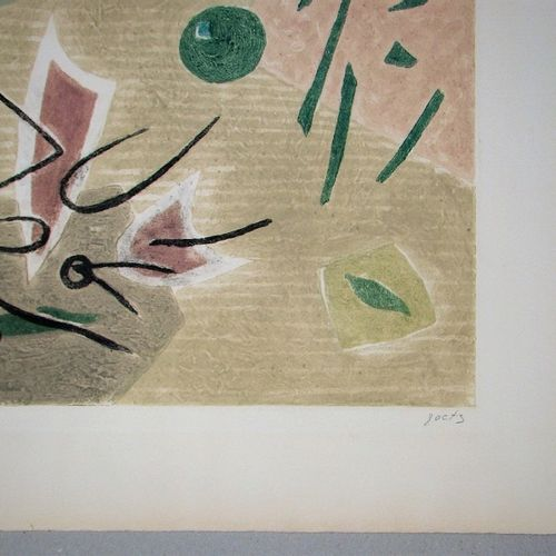 Henri GOETZ Henri GOETZ  创作, 1975  拱形牛皮纸上的原始碳化硅雕刻。  右下方有艺术家的铅笔签名  并在左下方编号(66 / 7…