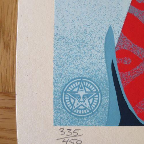 Shepard FAIREY Shepard Fairey (Obey)  只是天使的崛起,2021年  丝网印刷在Speckletone奶油纸上。  签名:S…