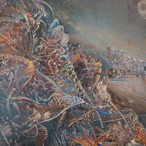 Marc JANSON Marc Janson (1930 )  Paysage surréaliste  Huile sur toile  Signée en…