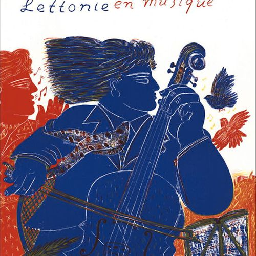 Alexandre FASSIANOS Alexandre Fassianos (1935)  Lettonie en musique, 1990  Litho…