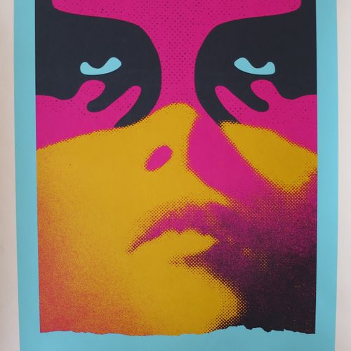 Shepard FAIREY Shepard Fairey (Obey)  影子游戏 巴黎, 2019  丝网印刷在Speckletone奶油纸上。  签名:S…
