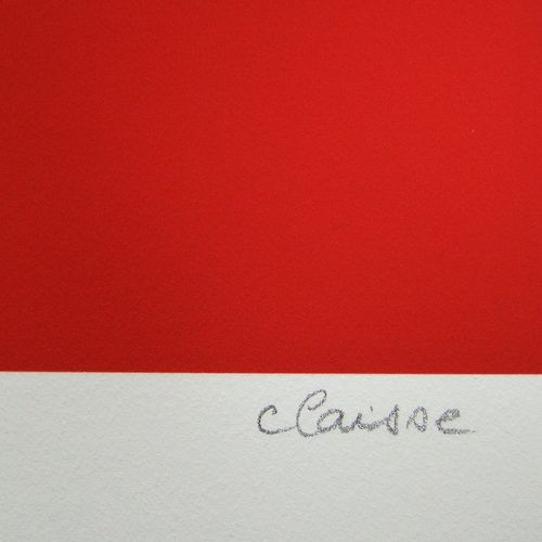 Geneviève CLAISSE Geneviève Claisse ( 1935 2018 )  暗红色背景上的红色圆圈, 2015  在艺术印刷的牛皮纸上…