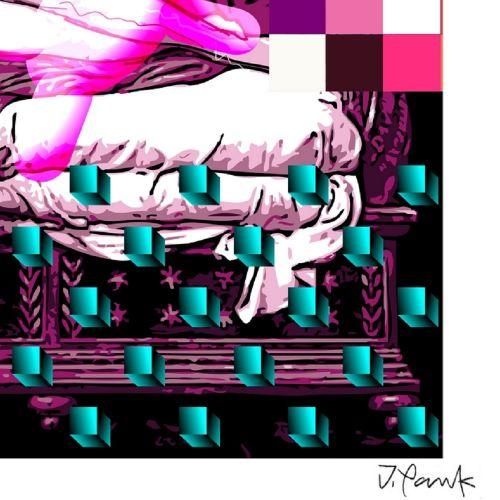 Jordan Pankov 乔丹 潘科夫  丘比特与赛琪 I, 2020  已签名并编号为1/30的绢印画  法布里亚诺艺术纸240克  尺寸:50 x 70 …
