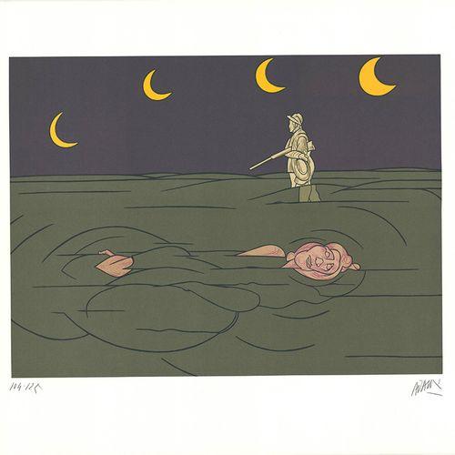 Valerio Adami Valério ADAMI (1935)  Petit Clair de Lune  Lithographie numérotée …
