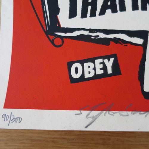 Shepard FAIREY Shepard Fairey (Obey)  Jonesy Jukebox, 2006     Sérigraphie sur p…