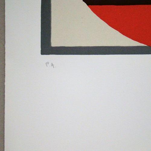 Mario Radice Mario RADICE ( 1898 1987 )  玫瑰花的构成, 1975年  厚牛皮纸上的7色石版画原作。  右下方有艺术家的…