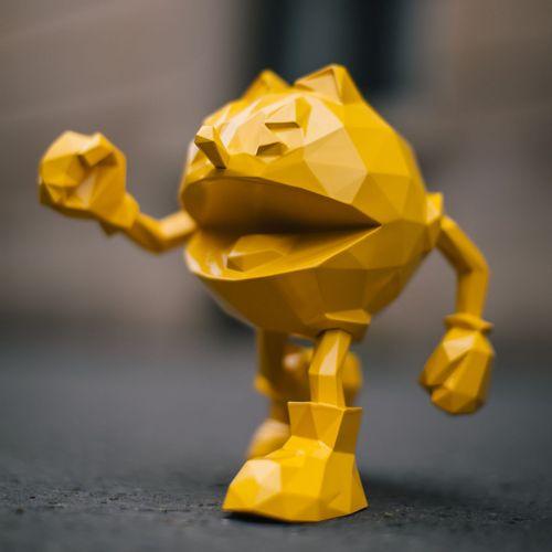 Richard Orlinski Richard ORLINSKI  Pac Man Jaune  Sculpture originale en résine …
