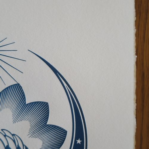 Shepard FAIREY Shepard FAIREY (Obey)  Lotus Ornament, 2017  Impression typograph…