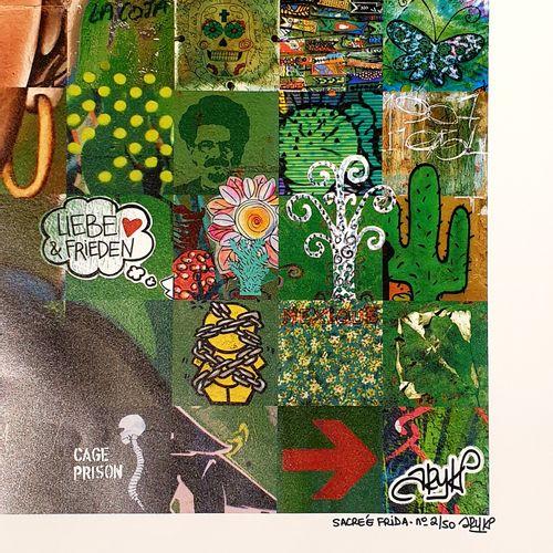 ARY KP ARY KP Sacrée Frida  Affiche sur papier couché mat moderne 200 g  Série l…