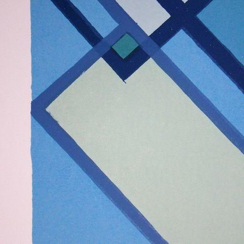 Mario Radice Mario RADICE ( 1898 1987 )  Compositione astratta blu verde, 1974  …