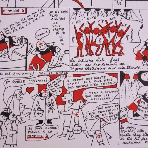 Yves Saint LAURENT Yves SAINT LAURENT  La vilaine Lulu à l'hôpital, 1985  Offset…