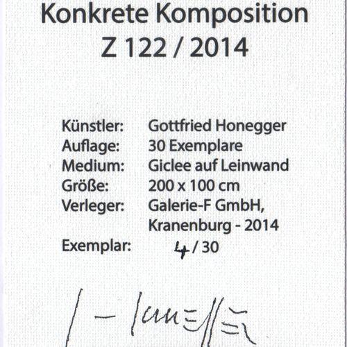 GOTTFRIED HONEGGER 戈特弗里德 霍内格尔(1917 2016)   Z122     画布上的Giclée   编号为4/30,并在另一块画布…