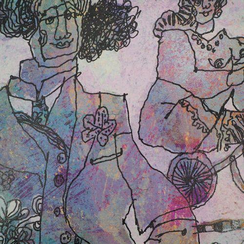 Theo Tobiasse 西奥 托比阿塞  一个奇怪的聚会  由Tobiasse本人在Vélin Rives 300克上镶嵌的原始石版画。  用铅笔签名  有…