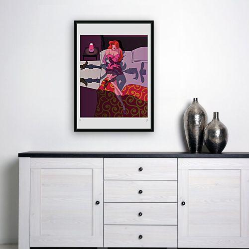 Philippe Grimaud Philippe Grimaud  杰西卡的惊喜, 2019  丝网印刷品 签名并编号为8/30  尺寸:49 x 70 cm…