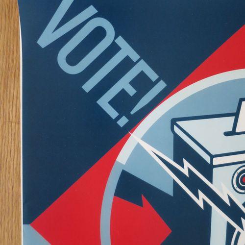 Shepard FAIREY Shepard FAIREY (Obey)  当我们都投票的时候,2020年  海报  版面上有Shepard Fairey的签名…