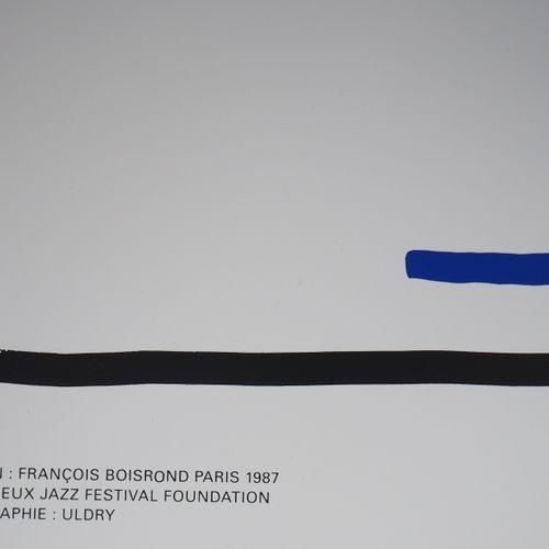 François BOISROND Francois Boisrond  Hommage au Jazz, 1987  Sérigraphie original…