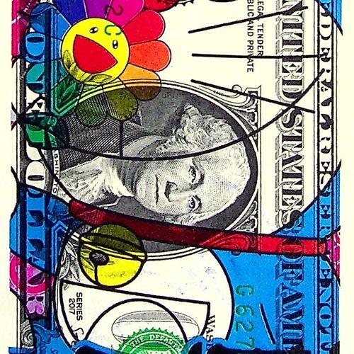 Death NYC Death NYC  Doreamon with Murakami flowers, 2020  Sérigraphie originale…
