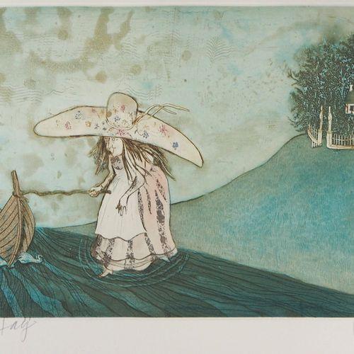 LARS BO Lars BO  La Petite fille et la sage dame (Reine des neiges 5/10), 1969  …
