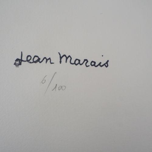 Jean MARAIS 让 马拉维 (1913 1998)  走向未来  牛皮纸上的石版画  版面上有签名,左下方有印章  有编号/100份  在Arches牛…