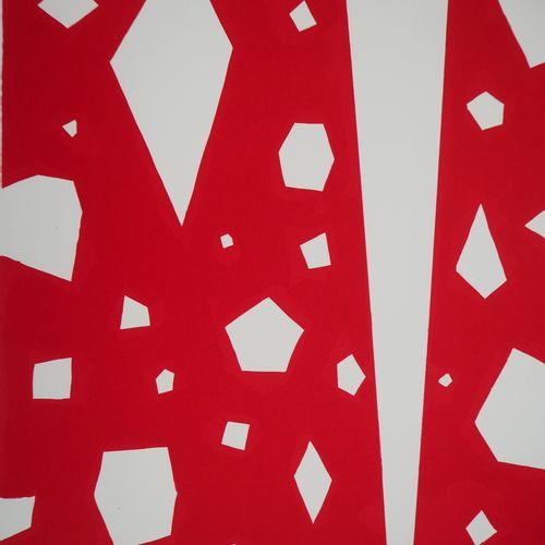 AKI KURODA Aki KURODA  Silhouette sur fond rouge  Lithographie originale en coul…