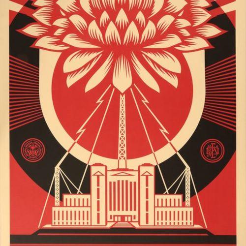 Shepard FAIREY Shepard Fairey (1970)   权力的荣耀     再生纸上的胶印,日期为2018年,并有艺术家的铅笔签名    …