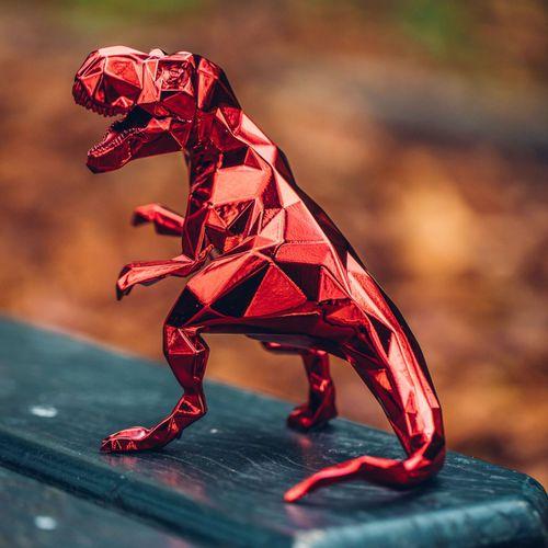 Richard Orlinski Richard ORLINSKI  T Rex  Sculpture originale en résine  Rouge m…