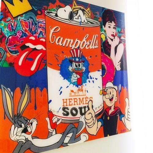 SAM Sam  Hermes Soup, 2020  Impression digitale sous plexiglass  Edition de 8 ex…