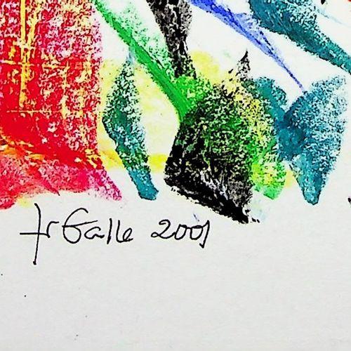 Françoise Galle Françoise GALLE (1940)  Abstraction : Eau et feu, 2001  Techniqu…