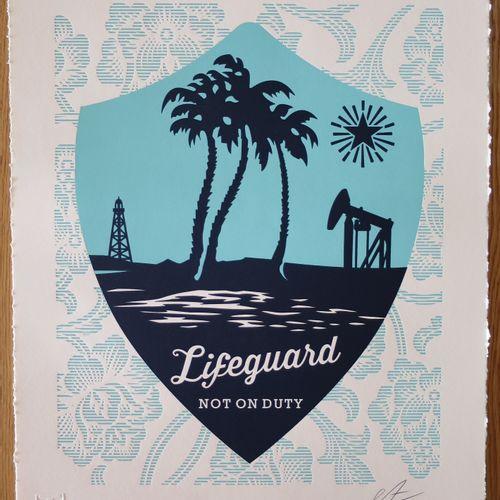 Shepard FAIREY Shepard Fairey (Obey)  Lifeguard not on duty letterpress, 2016  S…