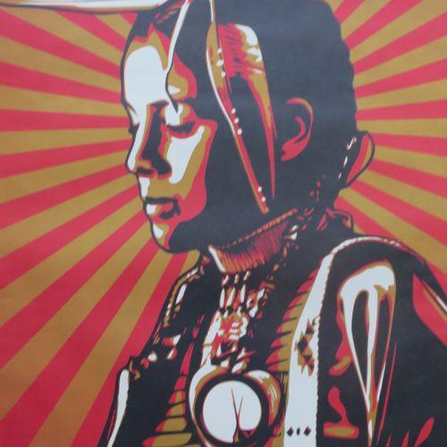 Shepard FAIREY Shepard Fairey (Obey)  黑山不卖,2012  罕见的精细纸上丝网印刷(易碎)。   签名:Shepard F…