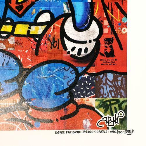 ARY KP ARY KP 超级容易成为超级!  200克现代哑光铜版纸上的海报  限量50份,由艺术家用毡尖笔签名和编号。  70 x 70厘米    拍品将…