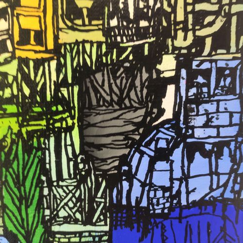 BAULT 博尔特。  塞纳河畔的伊夫里焚化炉。  2021,  绘画。  布上混合媒体。  独特的、有签名的作品。  100 x 80 Cm    拍品将由我…