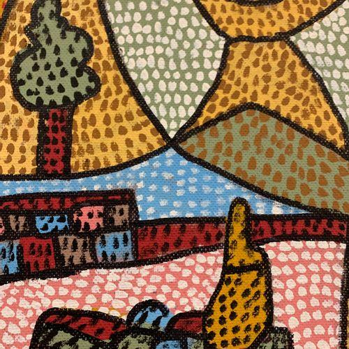 Jean Vodaine Jean VODAINE,  营地中的村庄都是如此,1991年   油在伊索尔上。   独特的工作   艺术家签名     81 x …