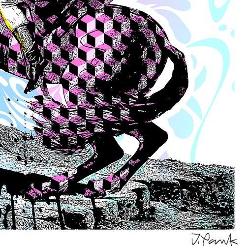 Jordan Pankov 乔丹 潘科夫  拿破仑, 2020  有签名和编号的绢画2/30  法布里亚诺艺术纸240克  尺寸:70 x 50 cm  限量版…
