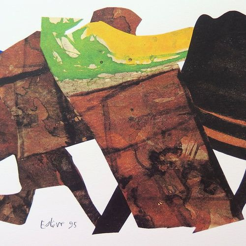 Maurice ESTEVE 莫里斯 埃斯泰夫(1904 2001)  五号纸牌  原创的绢画  LanaPrime 牛皮纸 250克/米  板块中的签名  限…