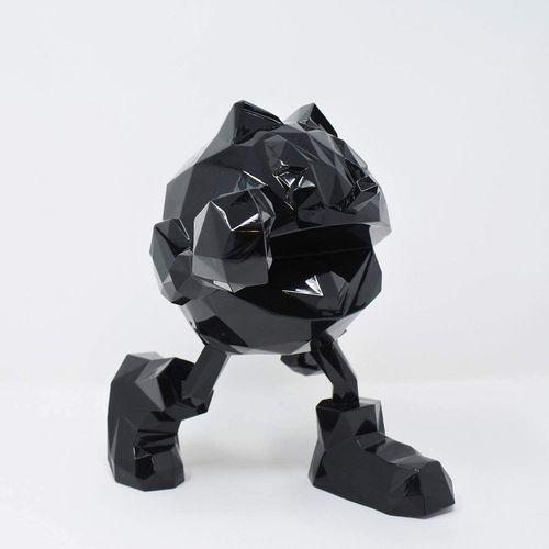 Richard Orlinski Richard ORLINSKI  黑色吃豆人  原创树脂雕塑  金属黄  18厘米高  全新的原包装盒  尺寸 :   高度…