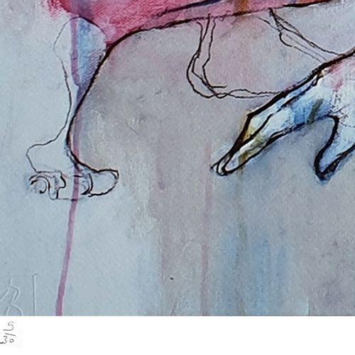 Laurent Bergues Laurent Bergues  小鹿广场夏季二人组,2019年  丝网印刷 签名和编号9/30 Fabriano 240克艺术…
